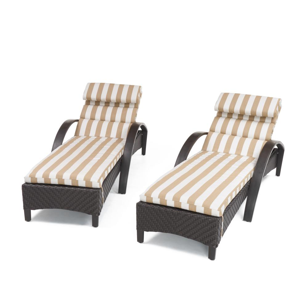Barcelo Chaise Lounges with Cushions - Maxim Beige