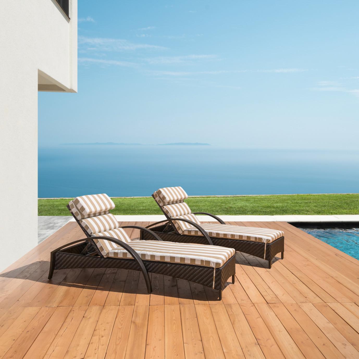 Barcelo™ Chaise Lounge 2pk - Maxim Beige