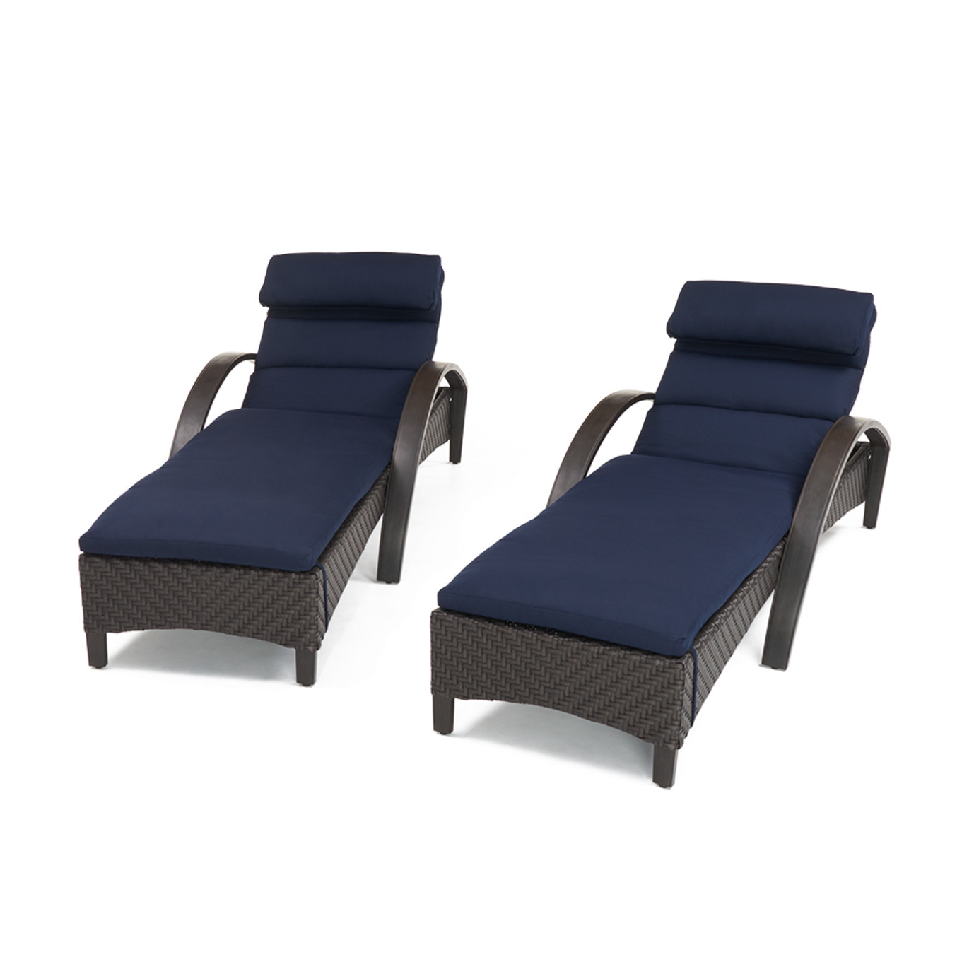 Barcelo Chaise Lounge 2pk Navy Blue Rst Brands