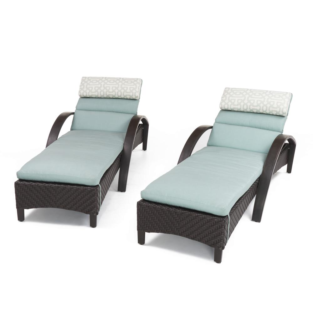 Barcelo Chaise Lounges with Cushions - Spa Blue