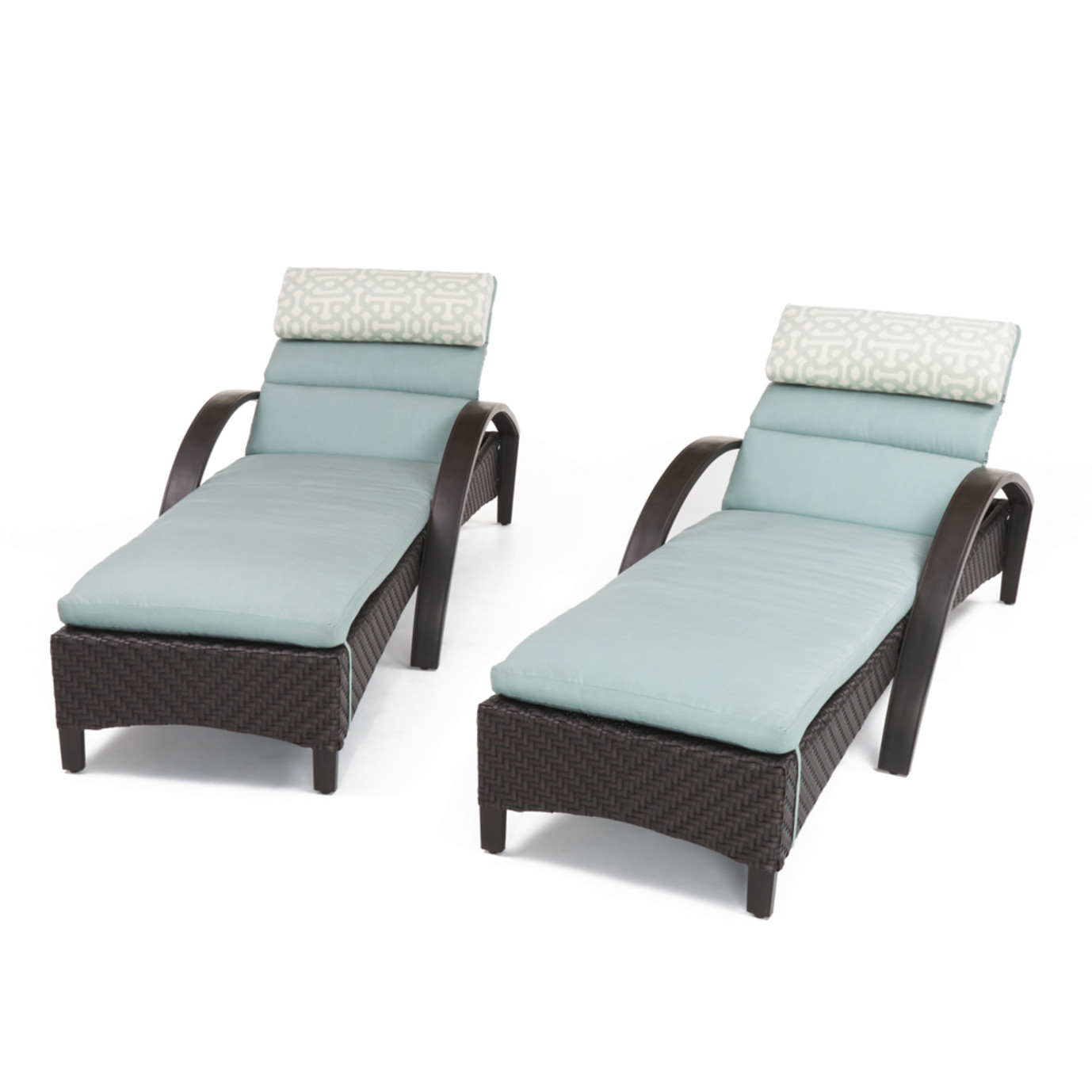 Barcelo Chaise Lounge 2pk Spa Blue Rst Brands