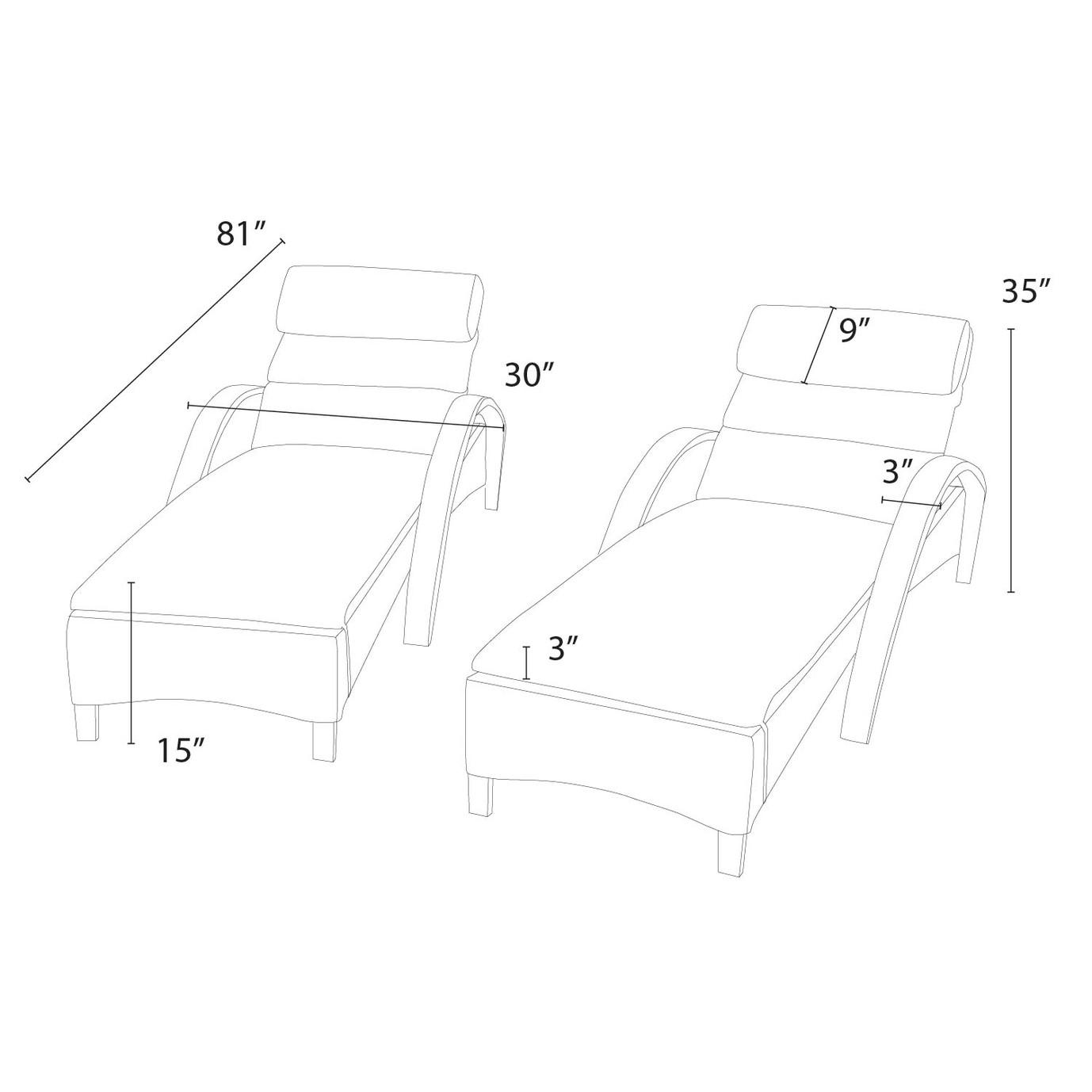 Barcelo™ Chaise Lounge 2pk - Spa Blue