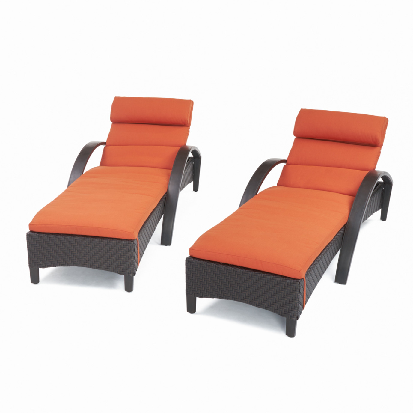 Barcelo Chaise Lounges With Cushions Tikka Orange Rst