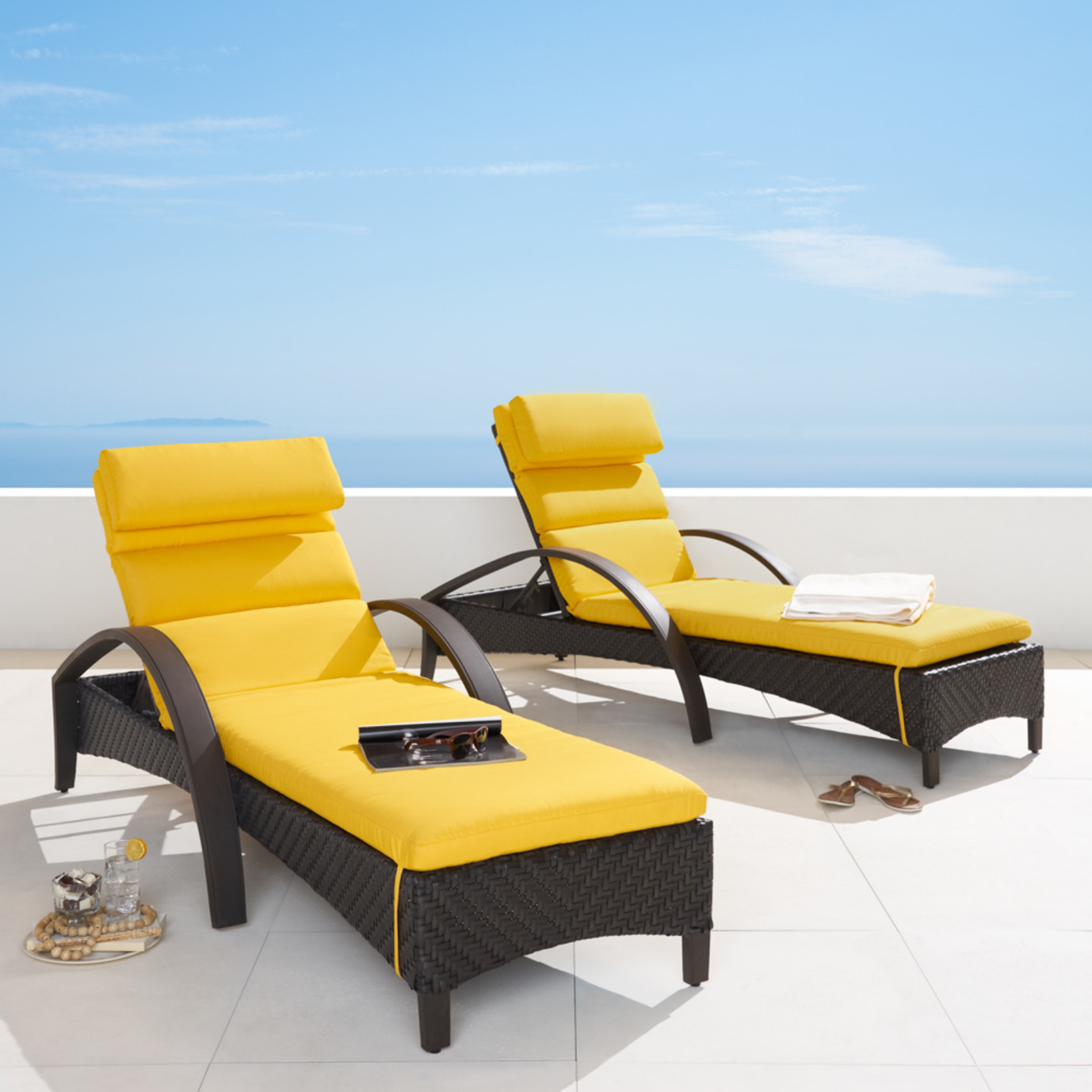Barcelo™ Chaise Lounge 2pk - Sunflower Yellow
