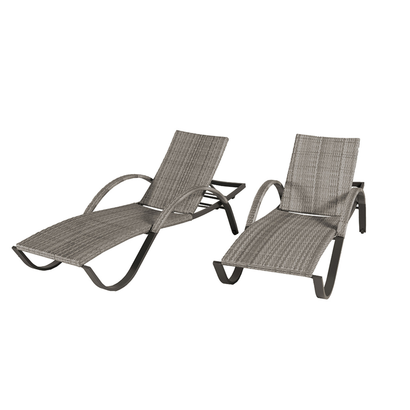 Cannes Woven Chaise Lounge Set 2pk Rst Brands