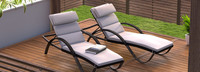 Deco™ Chaise Lounges with Cushions - Bliss Linen