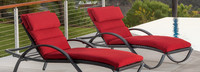 Deco™ Chaise Lounges with Cushions - Sunset Red