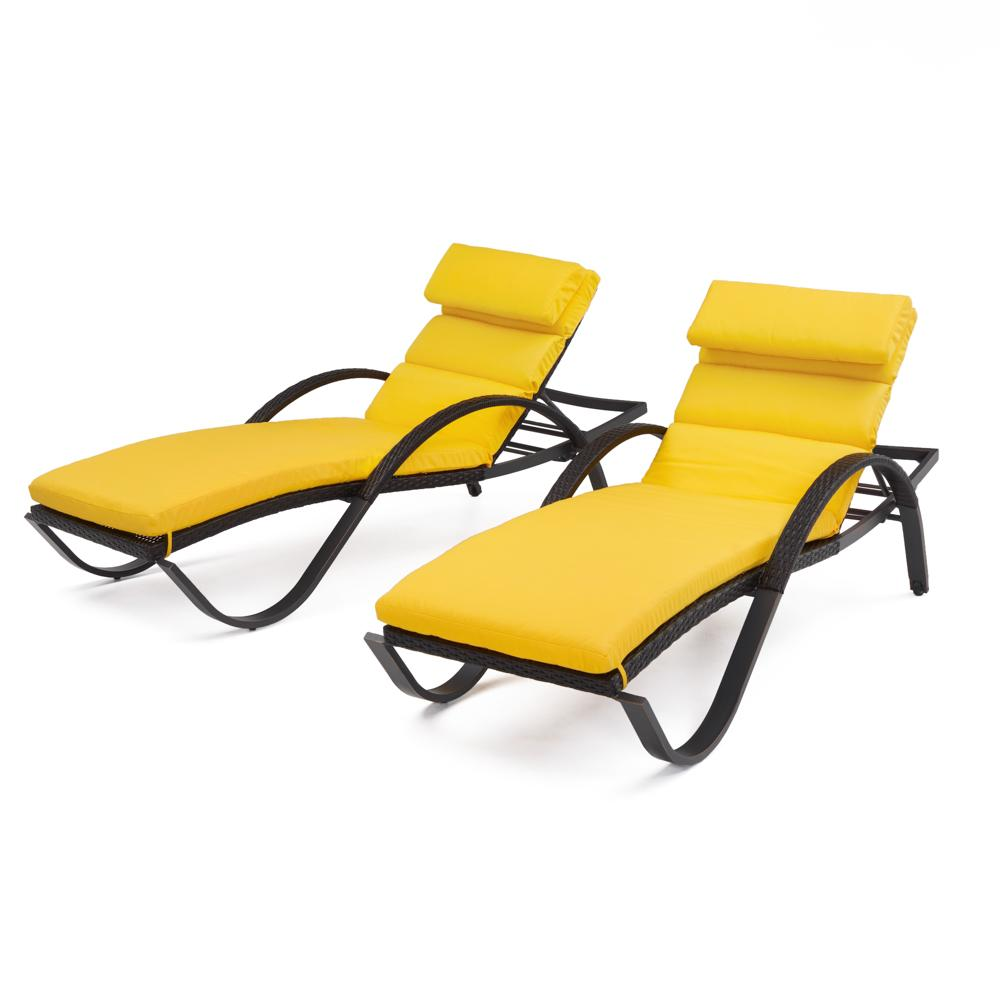 Deco Chaise Lounges with Cushions - Sunflower Yellow