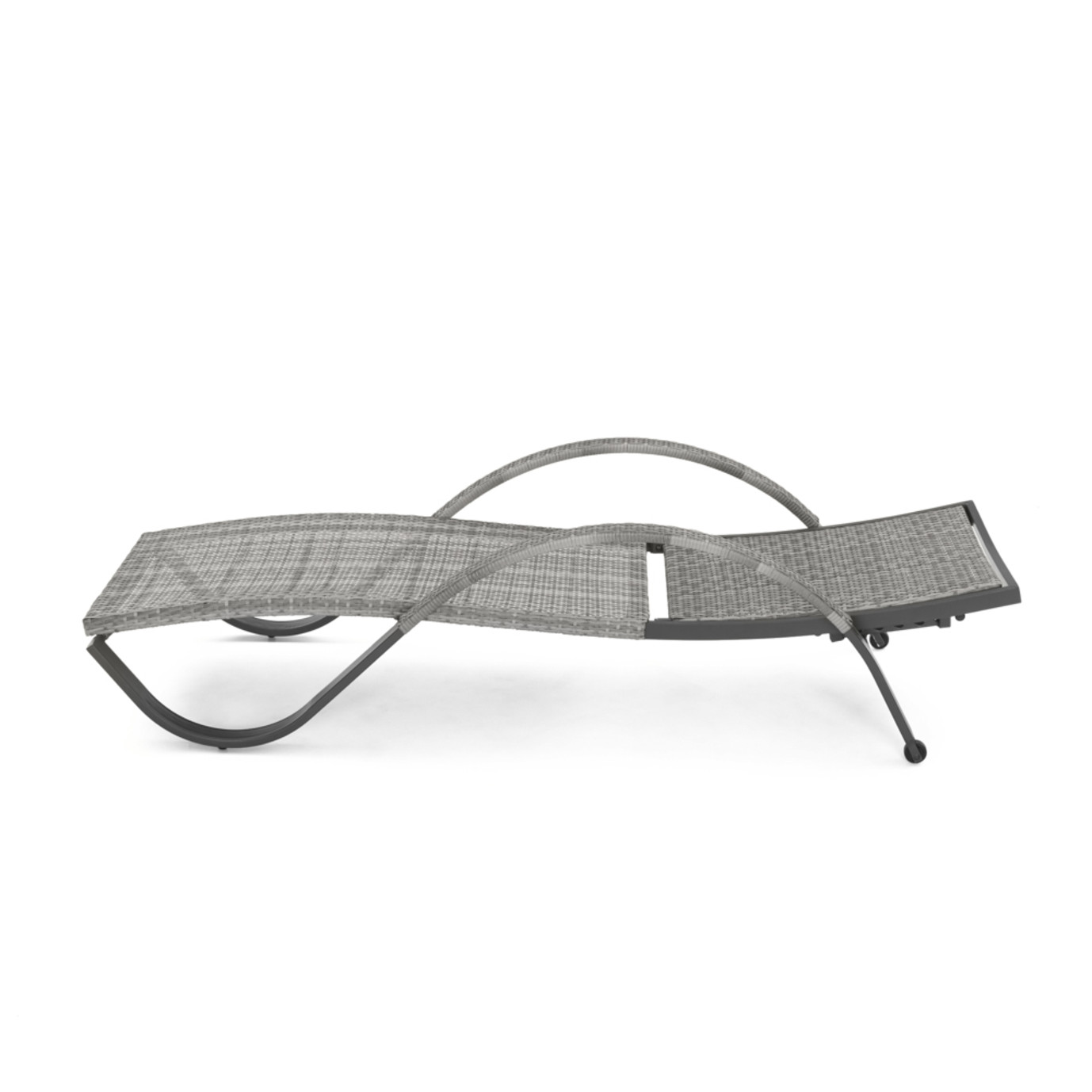 Cannes Chaise Lounges With Cushion And Pillow Charcoal