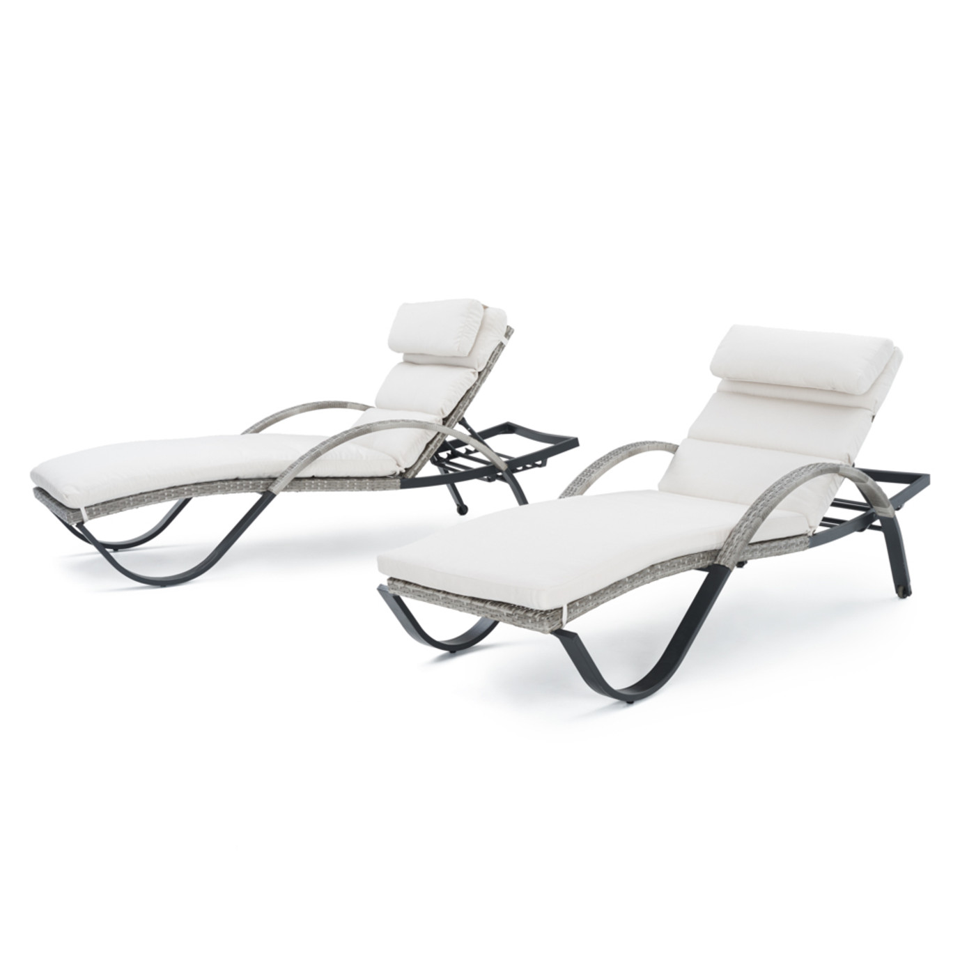Cannes™ Chaise Lounges with Cushions - Moroccan Cream