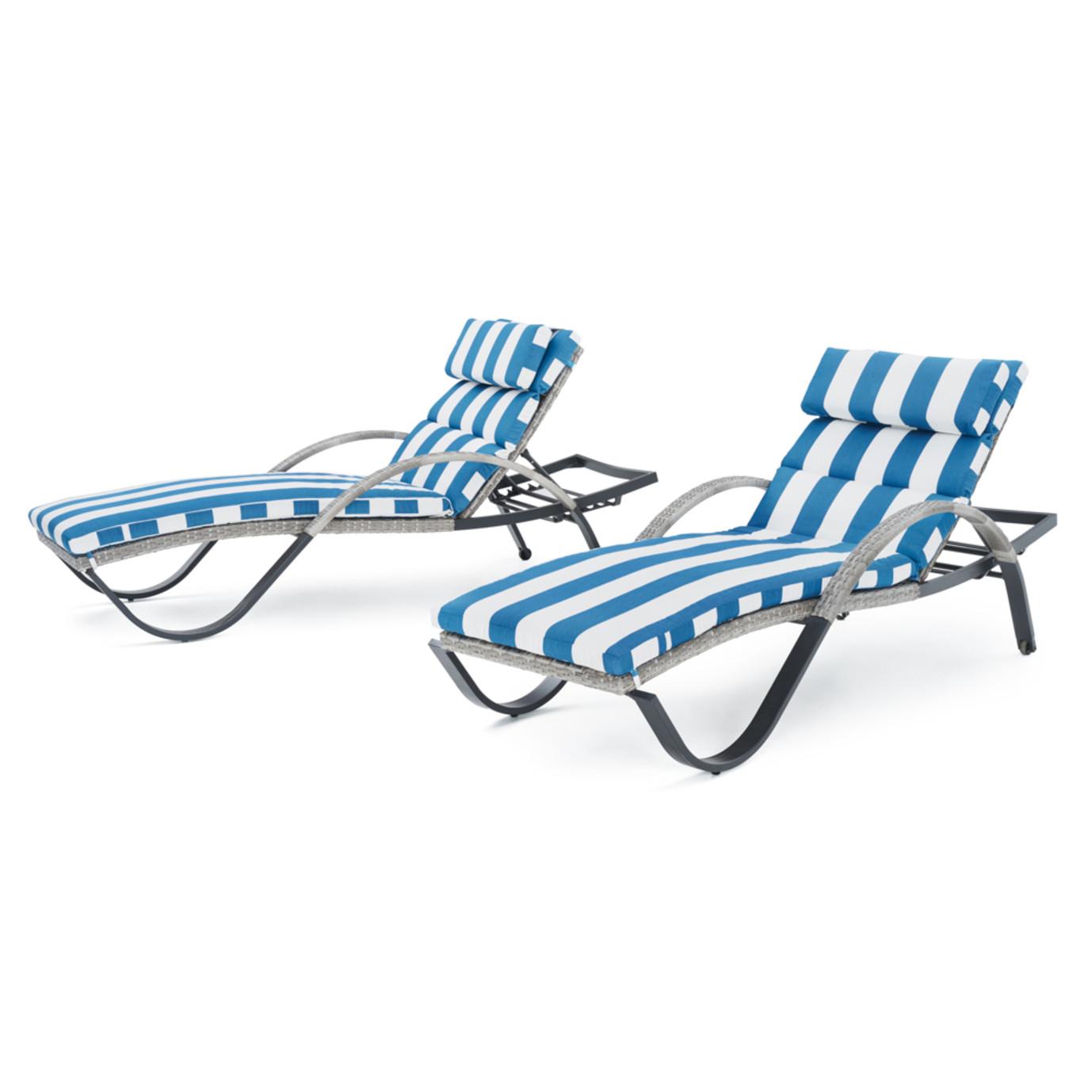 Cannes™ Chaise Lounge 2pk - Regatta Blue