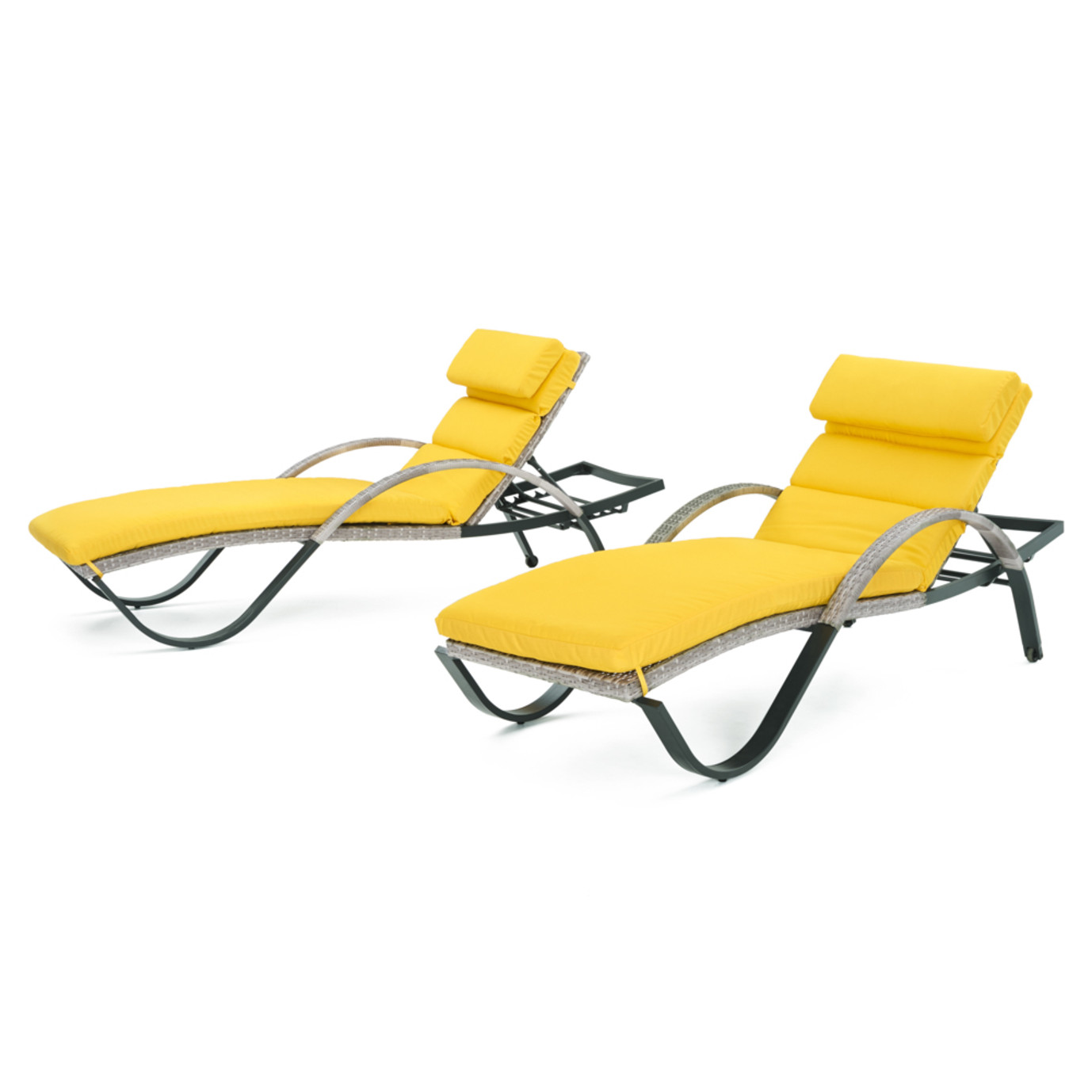 Cannes™ Chaise Lounge 2pk - Sunflower Yellow