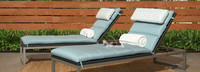Milo™ Espresso Chaise Lounges - Charcoal Gray
