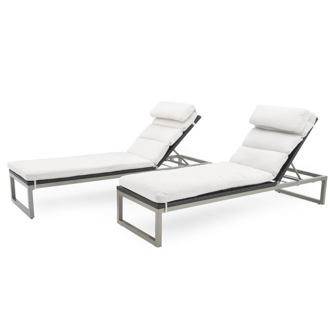 Milo™ Espresso Chaise Lounges - Moroccan Cream
