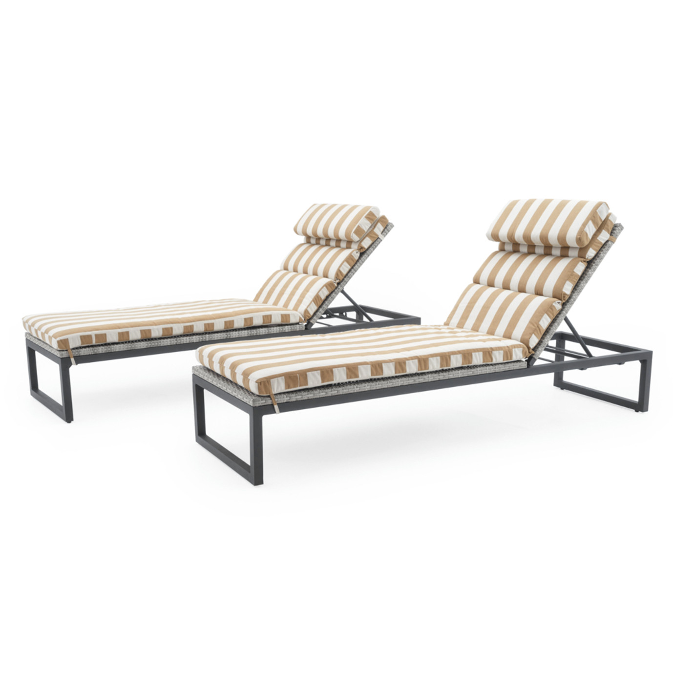 Milo™ Gray Chaise Lounges - Maxim Beige