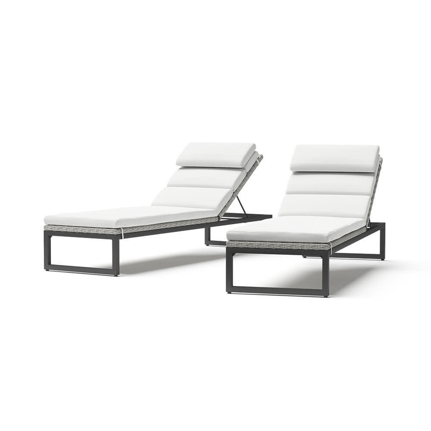 Milo™ Gray Chaise Lounges