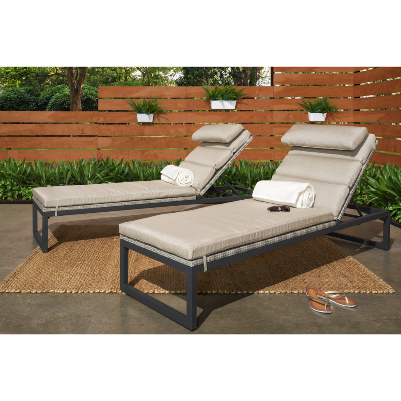 Milo™ Gray Chaise Lounges - Slate Gray