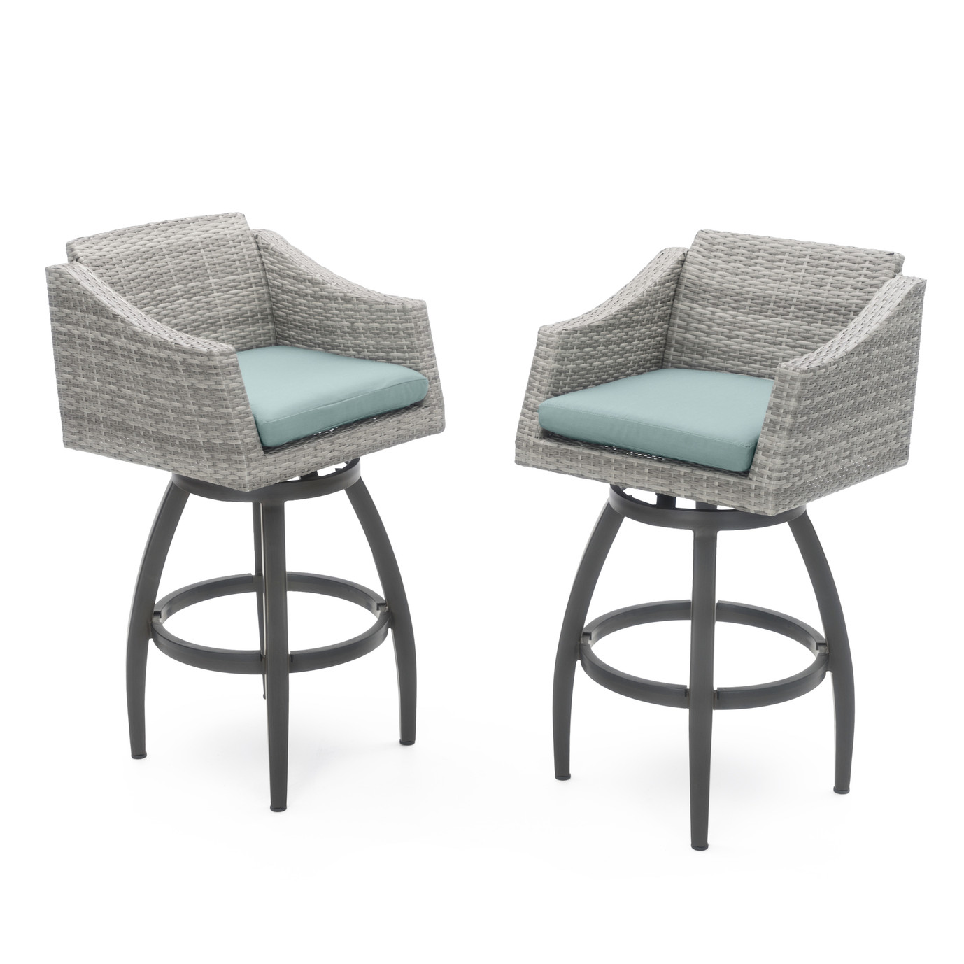 Cannes™ Swivel Barstool 2pk - Bliss Blue
