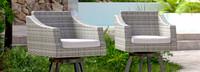 Cannes™ Swivel Barstool 2pk - Charcoal Gray