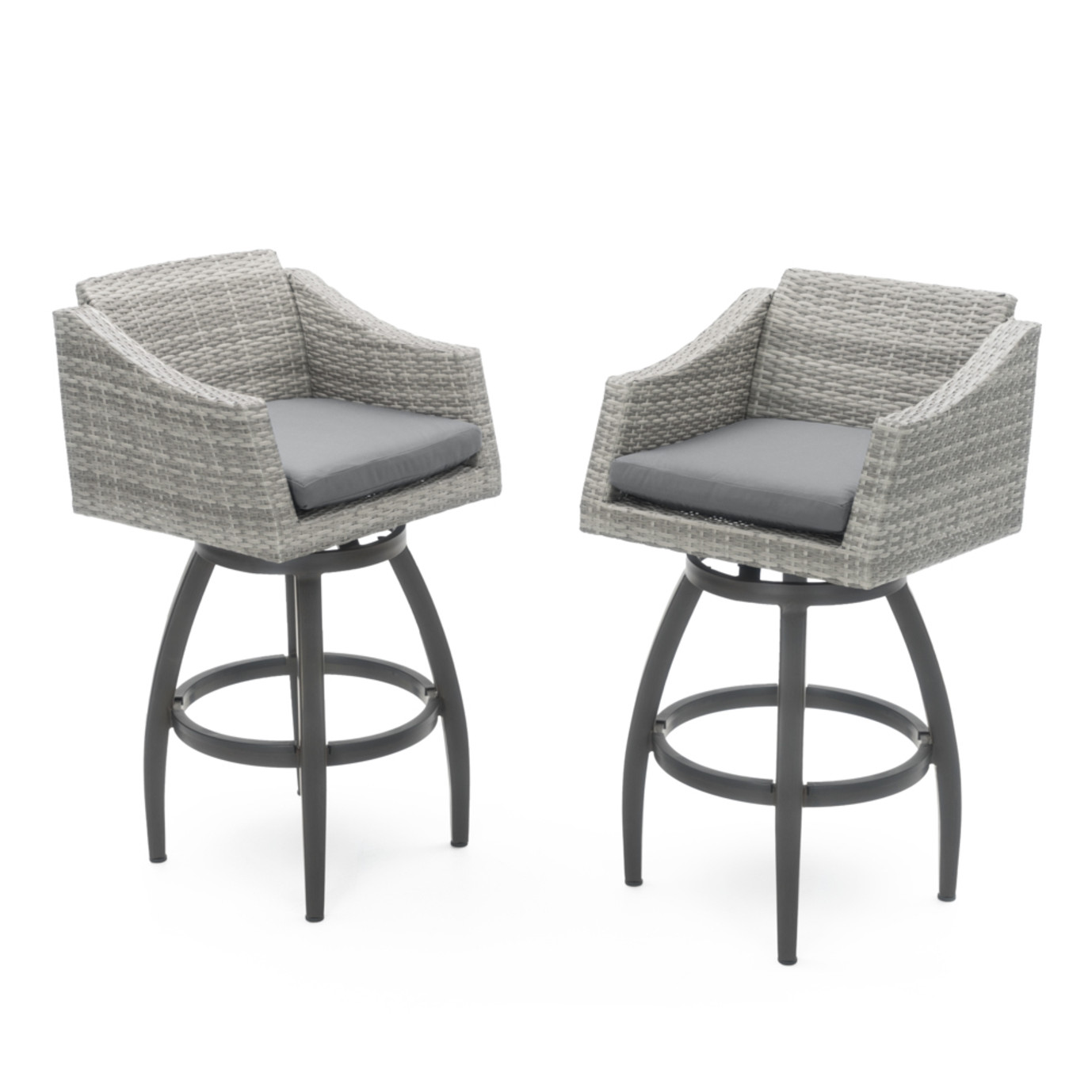 Cannes™ Swivel Barstool 2pk - Charcoal Gray