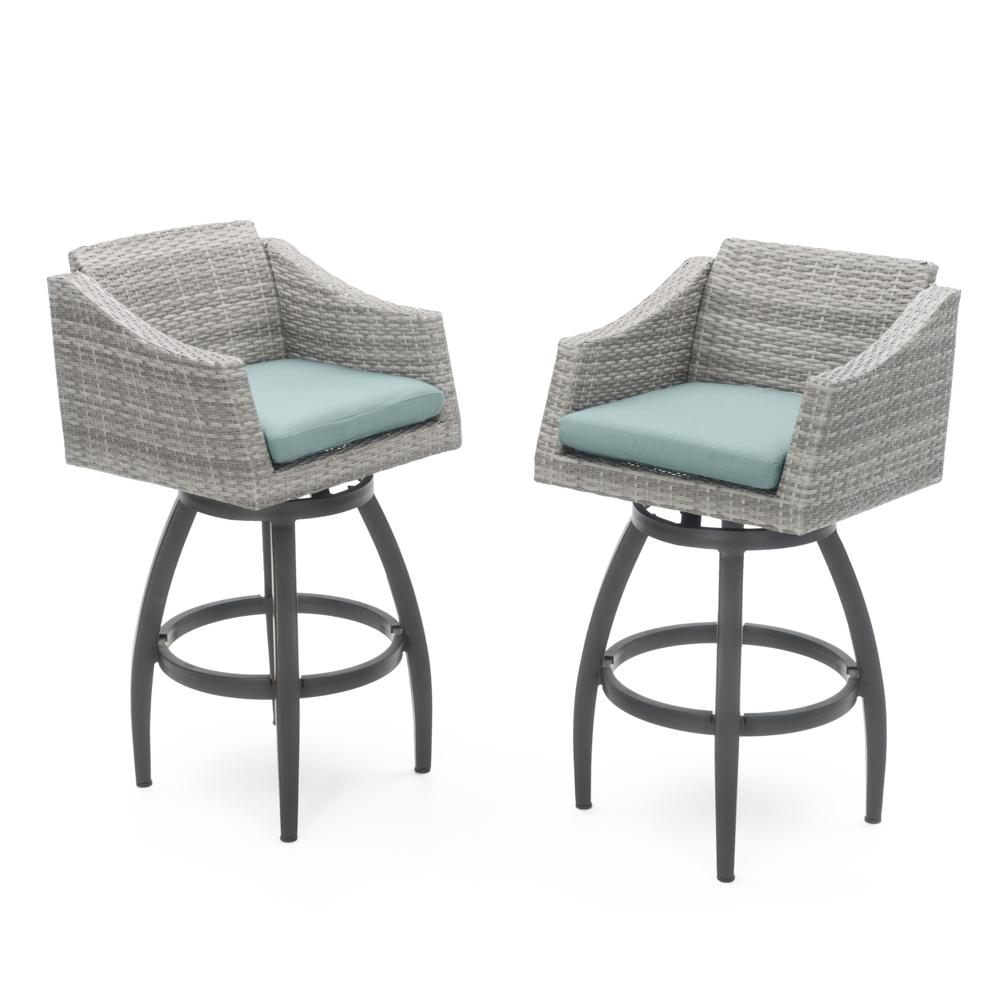 Cannes™ Swivel Barstool 2pk - Spa Blue