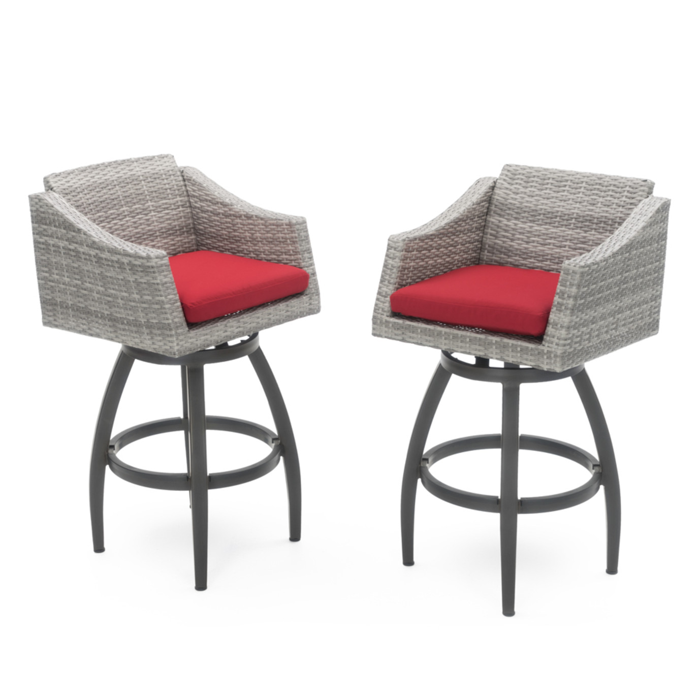 Cannes™ Swivel Barstool 2pk - Sunset Red