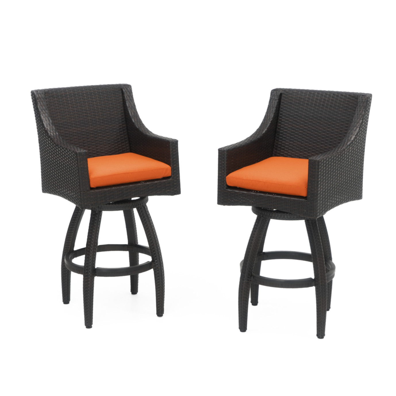 Deco™ Swivel Barstool 2pk - Tikka Orange