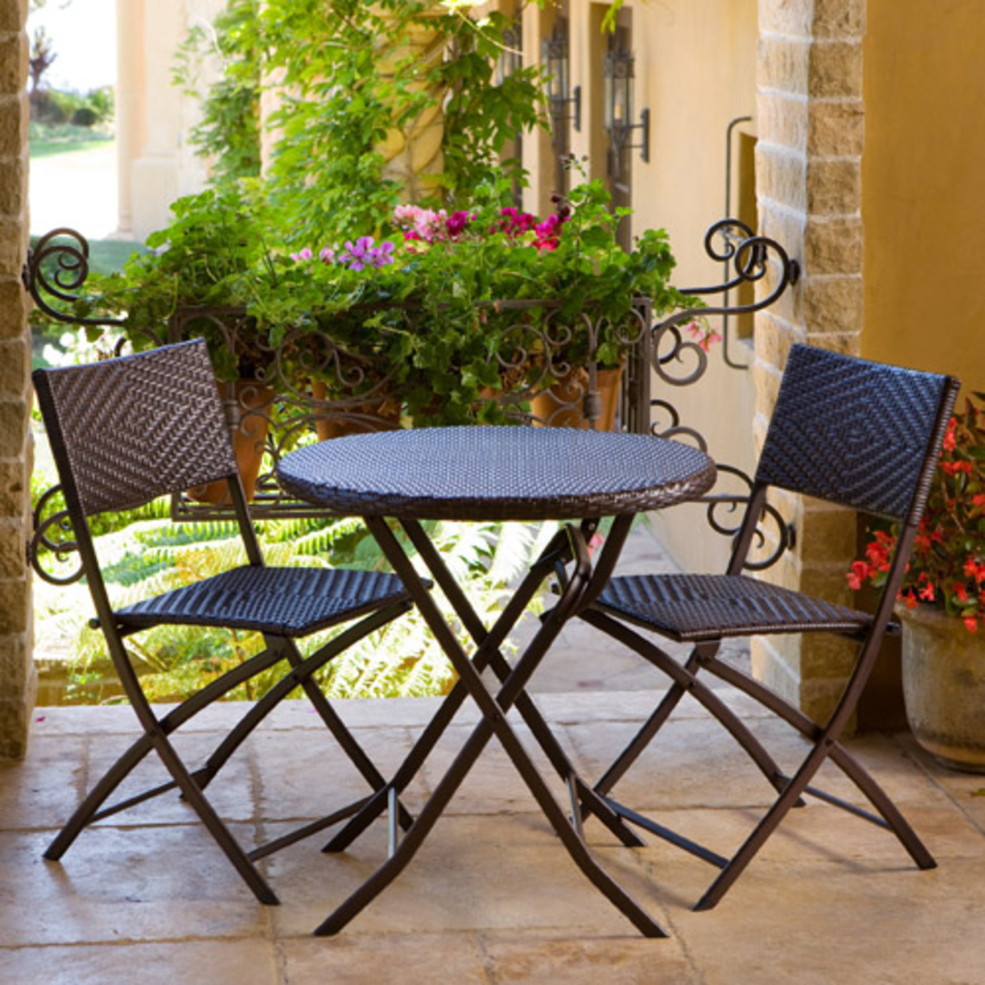 Rattan Table And Chairs Garden Furniture Hand woven rattan 3pc bistro set rst brands hand woven rattan 3pc bistro set workwithnaturefo