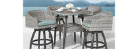 Cannes™ 5 Piece Barstool Set - Bliss Blue
