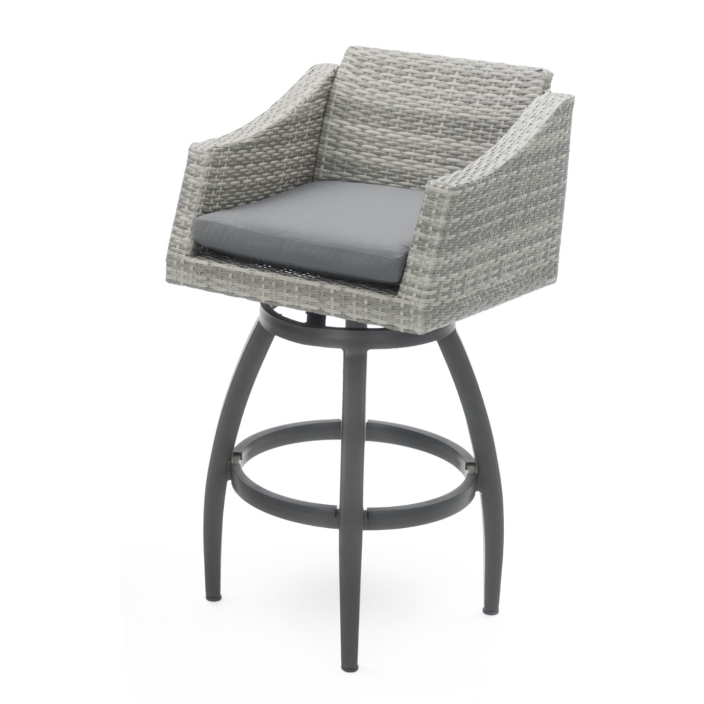 Cannes™ 5 Piece Barstool Set - Charcoal Gray