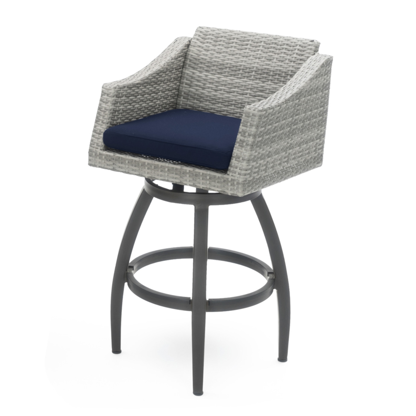 Cannes™ 5 Piece Barstool Set - Navy Blue