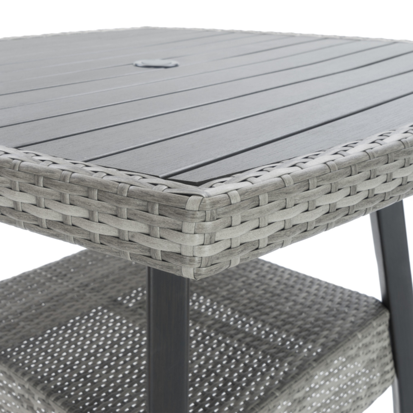 Cannes™ 5 Piece Barstool Set - Slate Gray