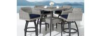 Cannes™ 5 Piece Barstool Set - Spa Blue