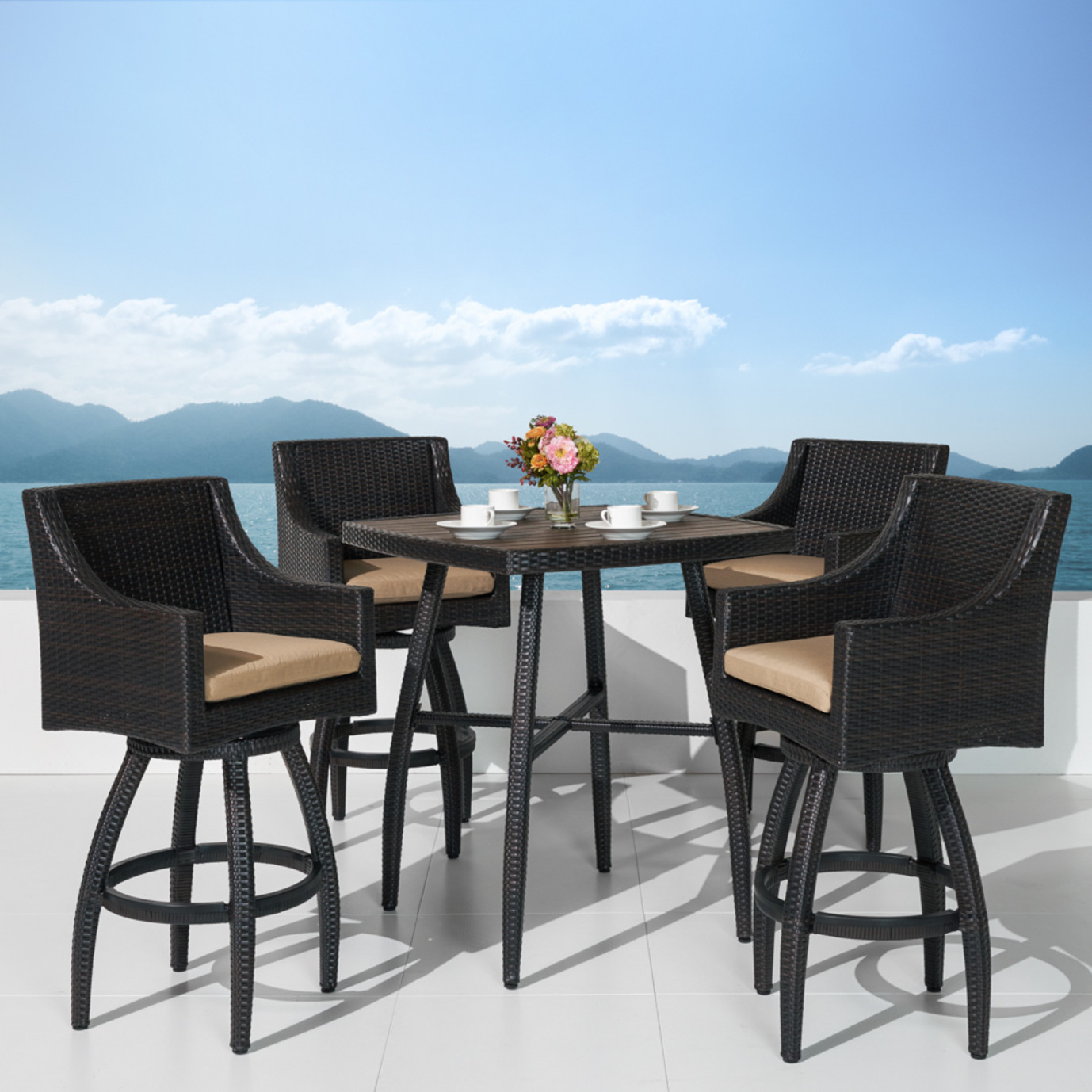 Deco™ 5pc Barstool Set - Maxim Beige