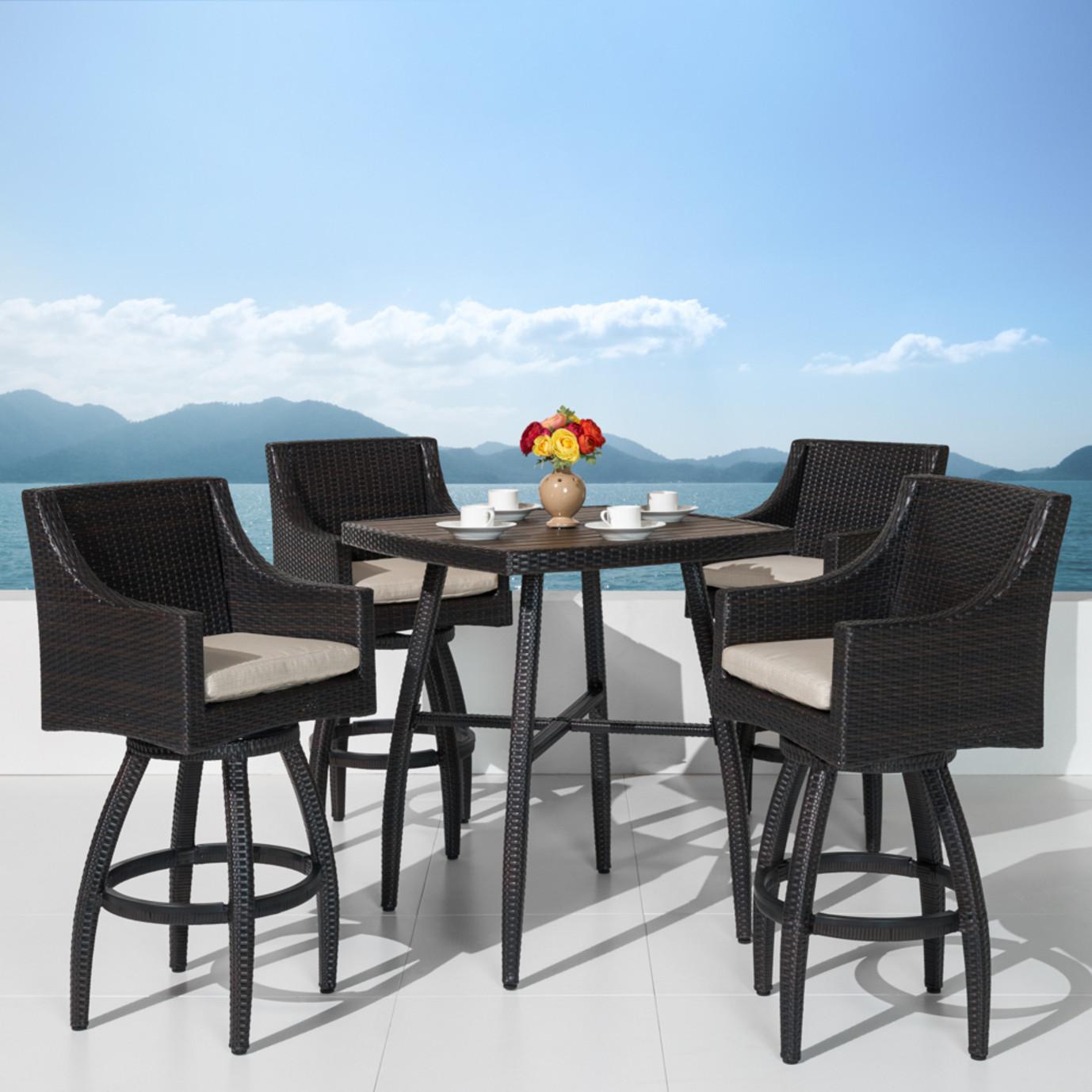 Deco™ 5 Piece Barstool Set - Slate Gray