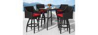 Deco™ 5 Piece Barstool Set - Sunset Red