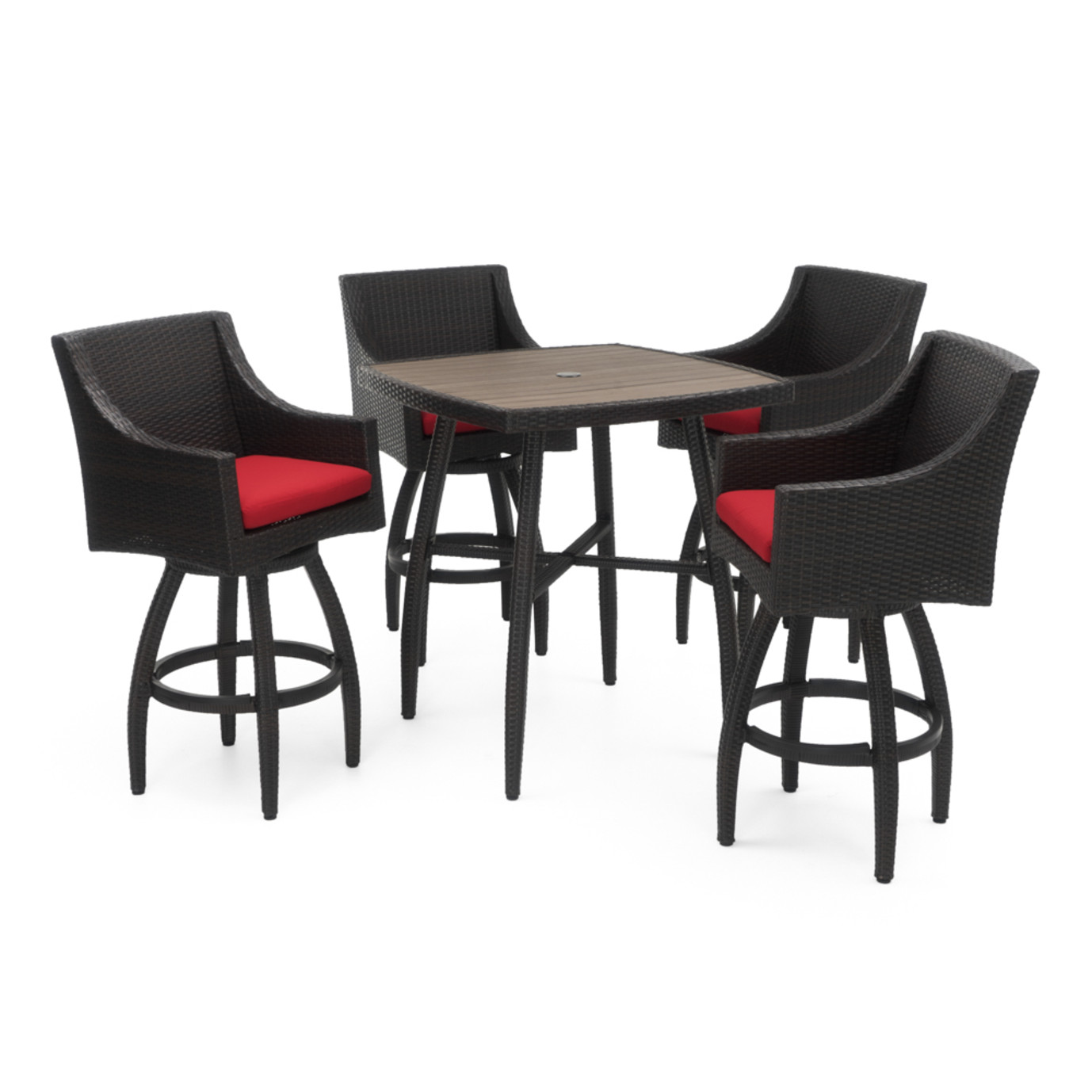 Deco™ 5pc Barstool Set - Sunset Red