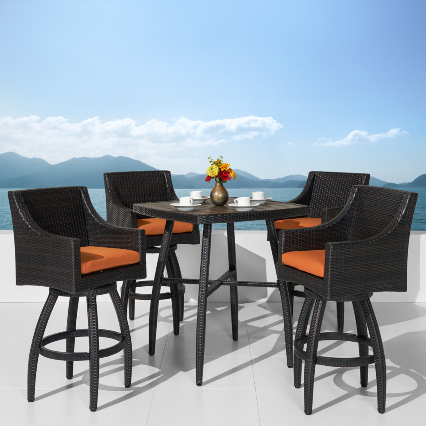 Deco™ 5 Piece Barstool Set - Tikka Orange