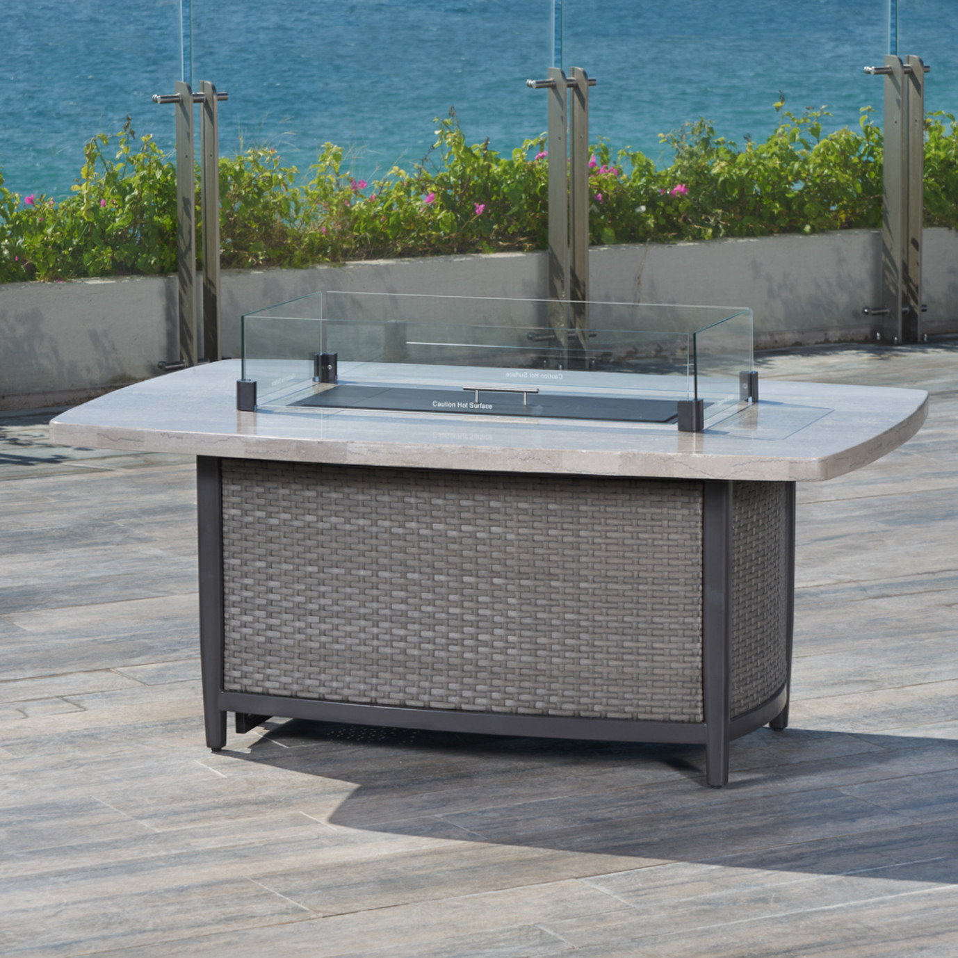 Vistano™ 28x58in Stone Top Fire Table