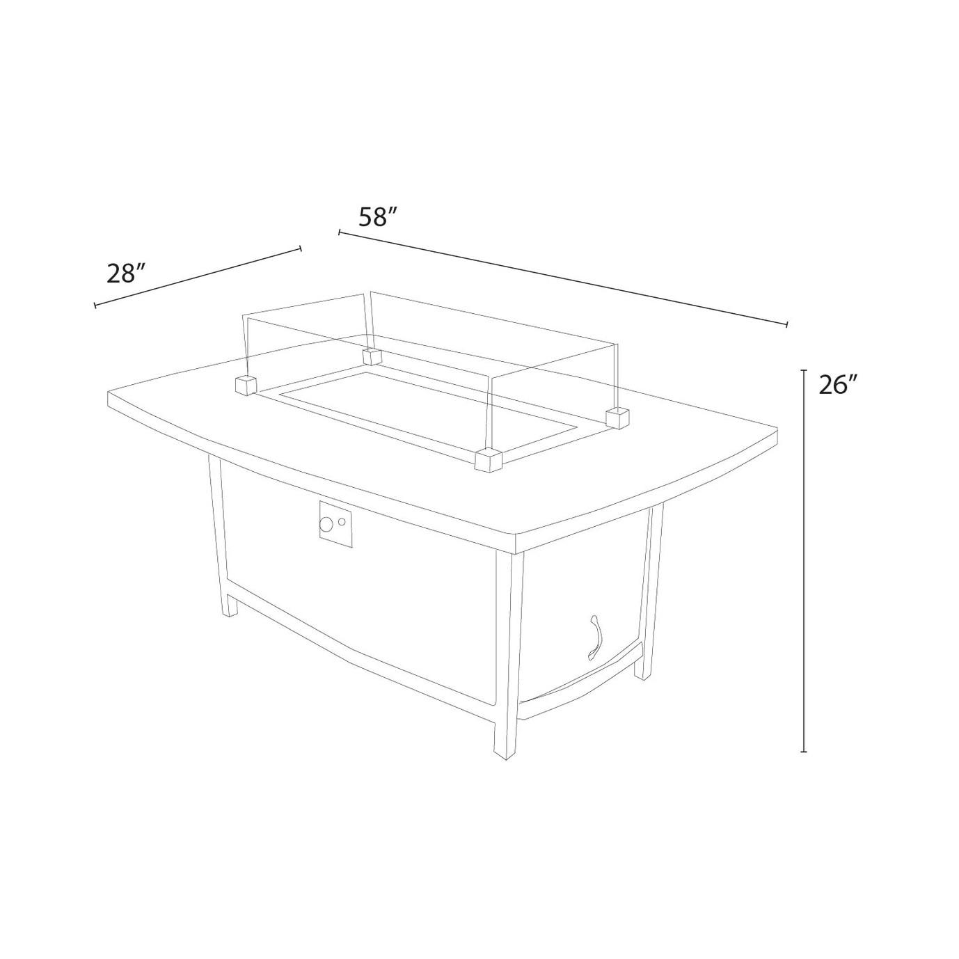 Vistano™ Stone Top Coffee Fire Table