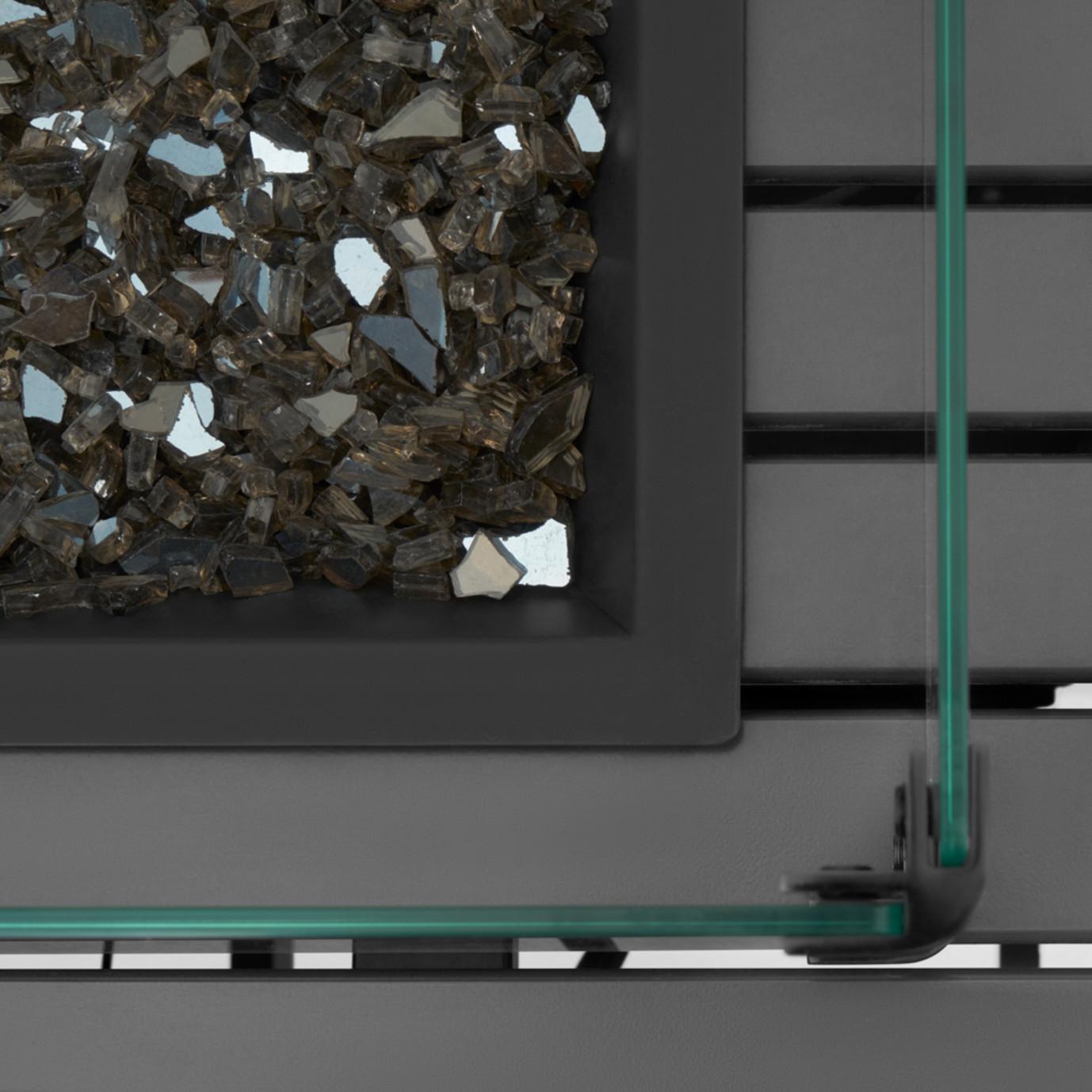 Vistano® Square Aluminum Slat Fire Table