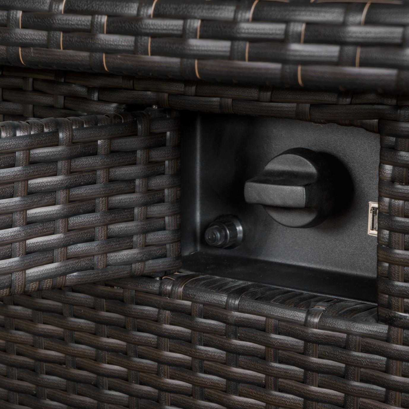 Portofino® Comfort Stone Top Fire Table - Taupe Mist