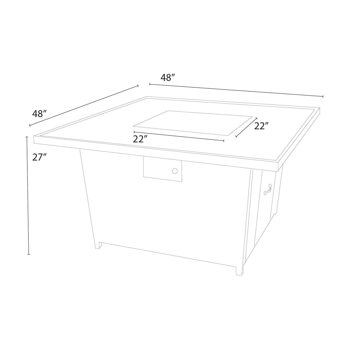 Portofino™ Comfort Stone Top Fire Table - Grey