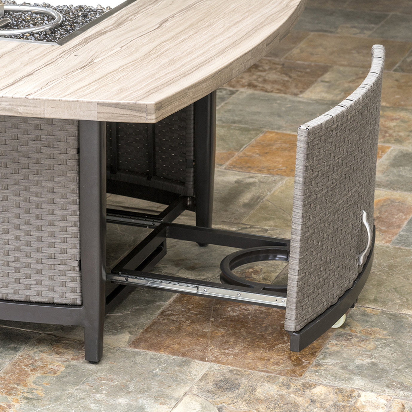 Vistano® 48in Stone Top Fire Table