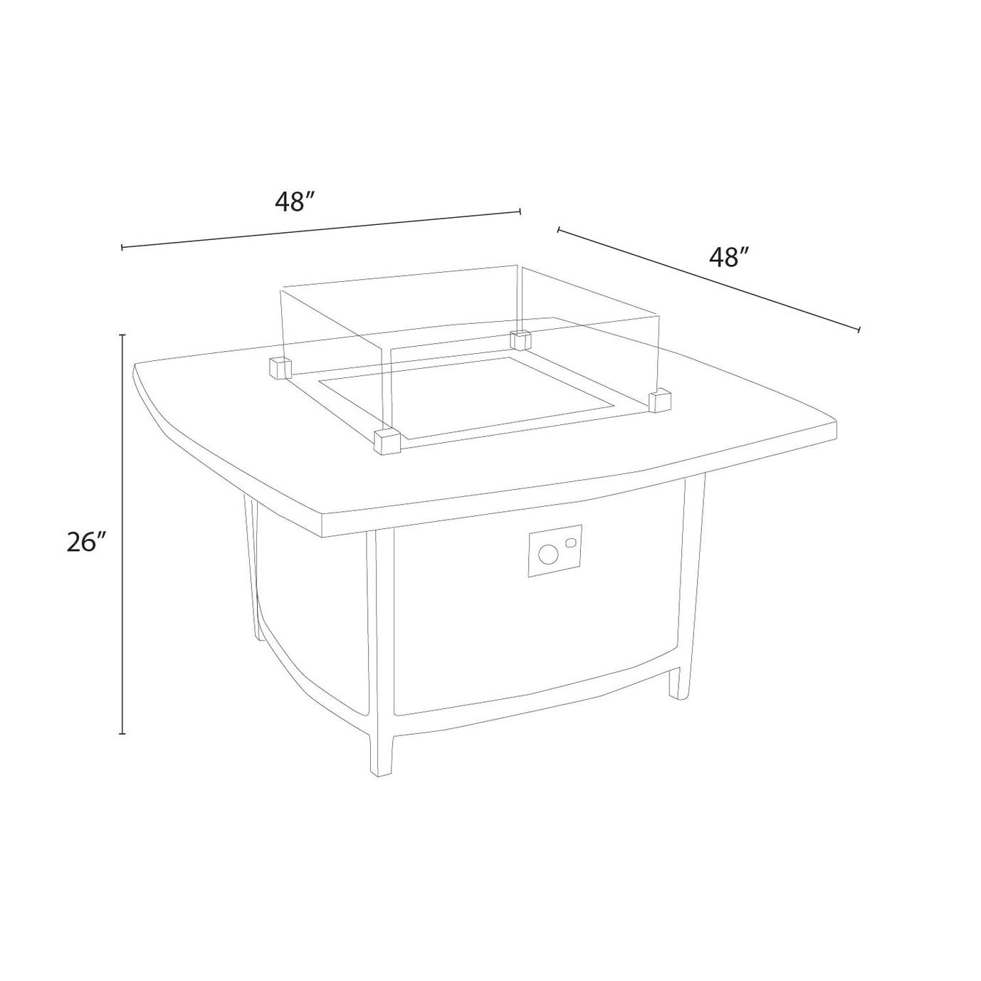 Vistano™ 48in Stone Top Fire Table