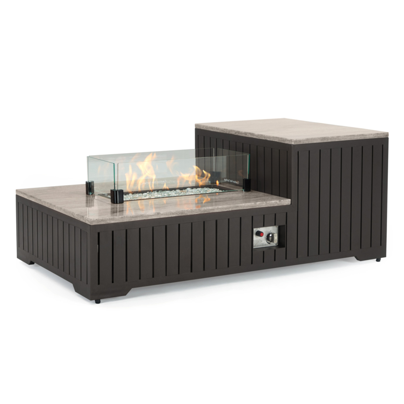 Portofino® Comfort 56x31 Stone Fire Pit Table