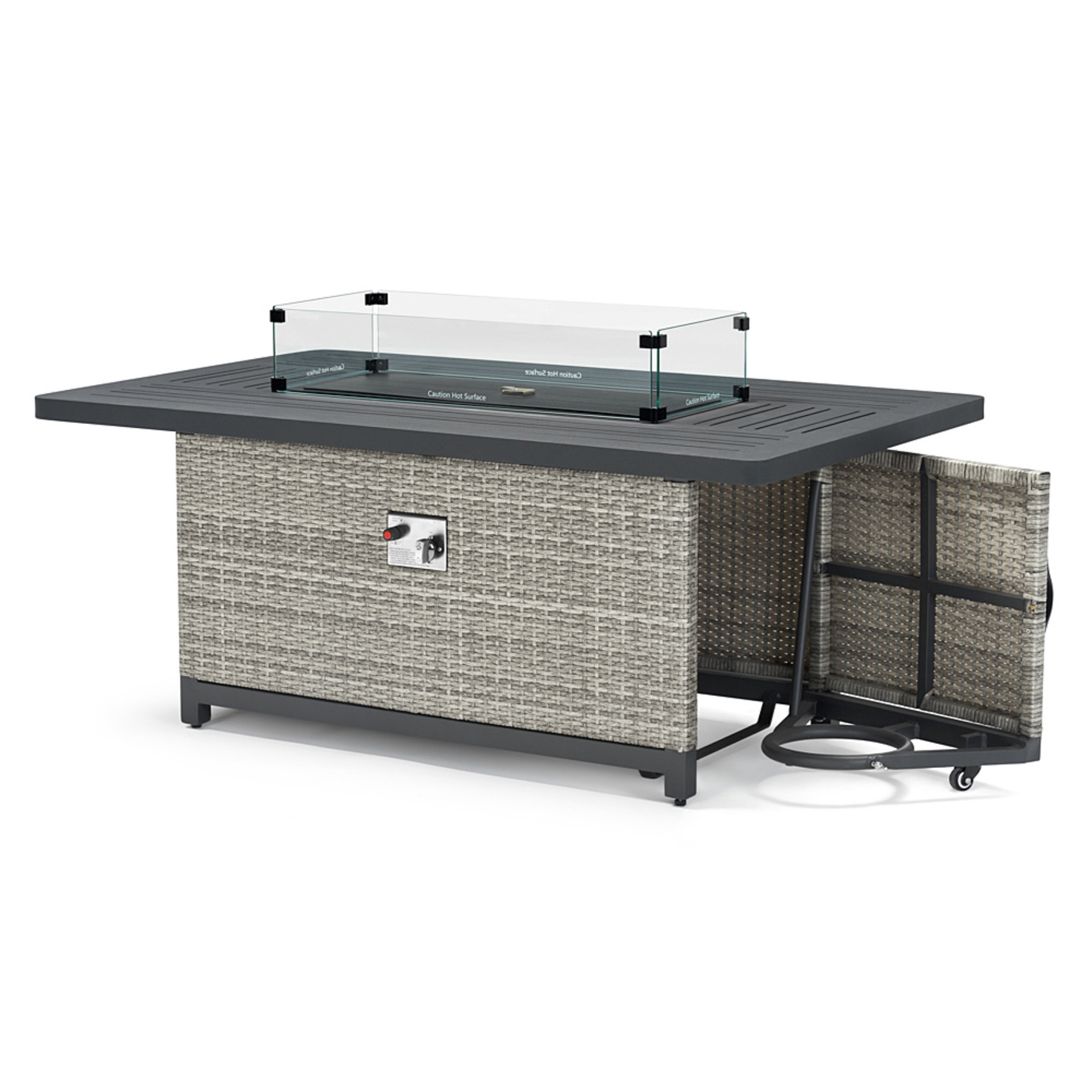 Milo™ Gray Fire Table