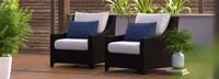 Deco™ Club Chairs - Bliss Blue
