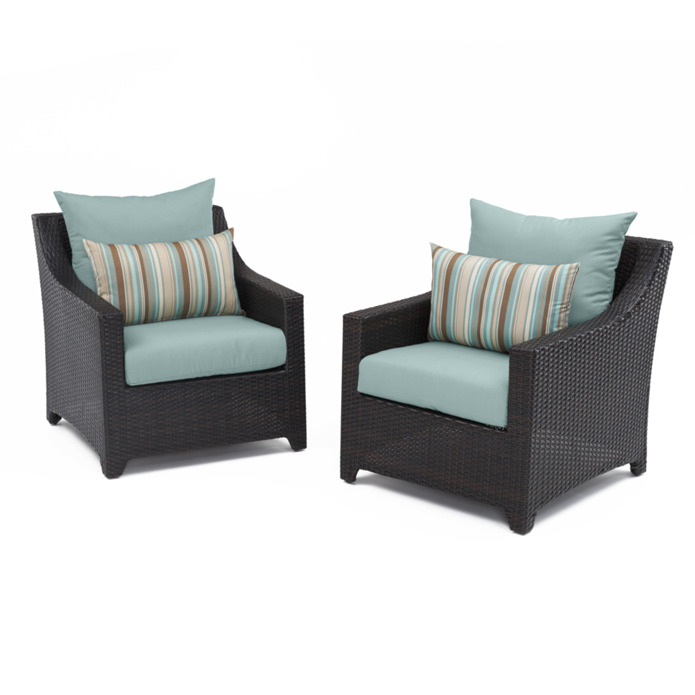 Deco™ Club Chairs - Bliss Blue