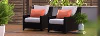Deco™ Club Chairs - Charcoal Gray